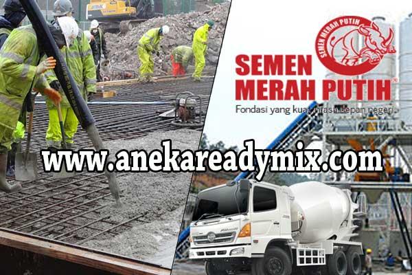 harga beton ready mix merah putih